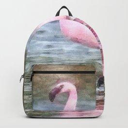 Lesser Flamingo Watercolor Backpack