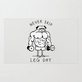 Never Skip Leg Day Rug