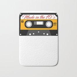 Retro 70's Cassette Tape Design 70's Mix Bath Mat