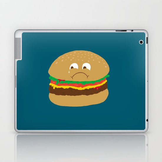 Sad Hamburger Laptop & iPad Skin