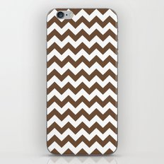 Chevron (Coffee/White) iPhone & iPod Skin