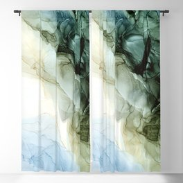Land and Sky Abstract Landscape Painting Blackout Curtain