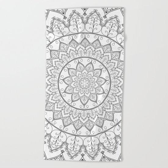 Lace Mandala Beach Towel