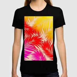 Palm Tree Fronds Multi Colour Vivid Hawaii Tropical Décor T-shirt