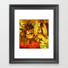 The seasons   Autumn birds Framed Art Print