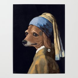 DOG WITH A PEARL EARRING Poster