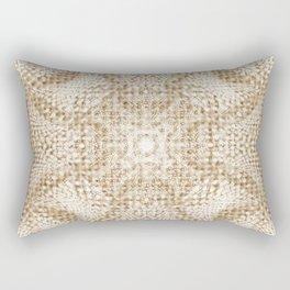 Burlap and Lace Rectangular Pillow