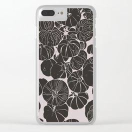 Black Pumpkins   Fall Bliss Clear iPhone Case