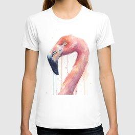 Pink Flamingo Painting T-shirt