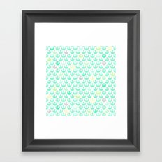 Rebel Alliance on White in Green and Yellow Pastels Framed Art Print
