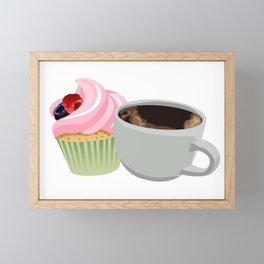 cupcakes and coffee Framed Mini Art Print