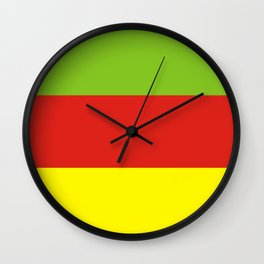 Bodoland people ethnic flag india Wall Clock