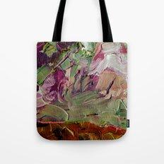 Abstract Purple Green Sky Tote Bag