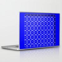 blueprint Laptop & iPad Skins featuring Interlocking Cogs Pattern Blueprint by StuC42