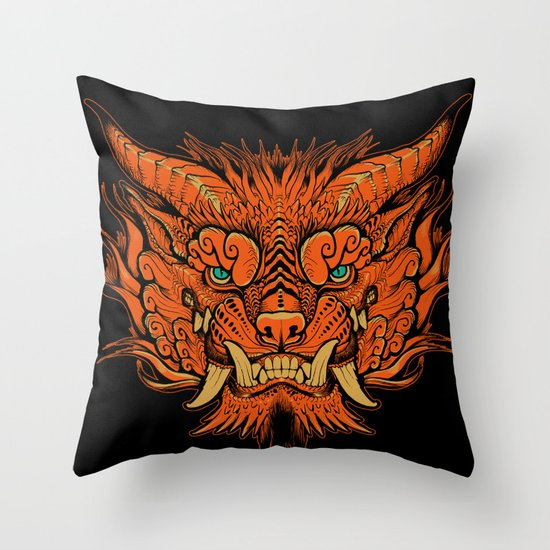 Foo Dog Throw Pillow
