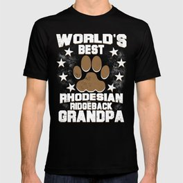 World's Best Rhodesian Ridgeback Grandpa T-shirt