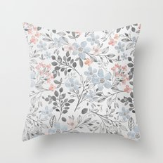 floral background Throw Pillow