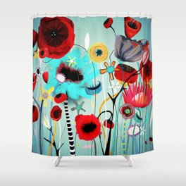 You don't have to be alone.  Shower Curtain