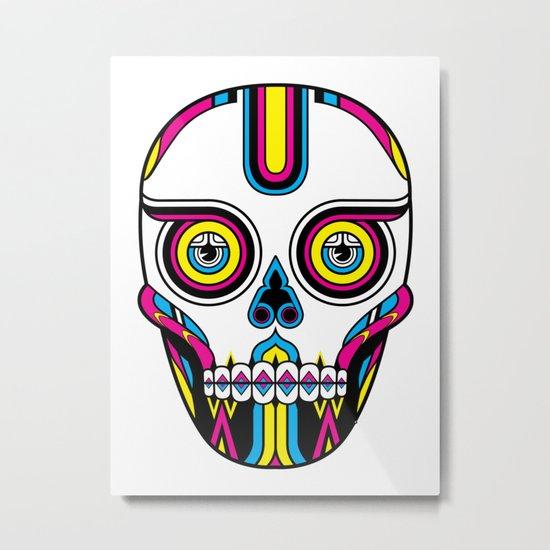 CMYK Skull Metal Print