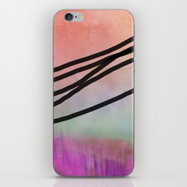 Pink Abstract with Lines - Pastel iPhone Skin