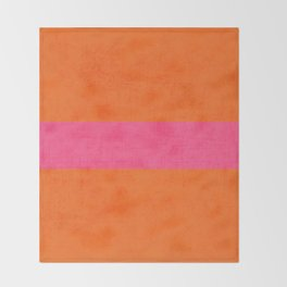 orange and hot pink classic Throw Blanket