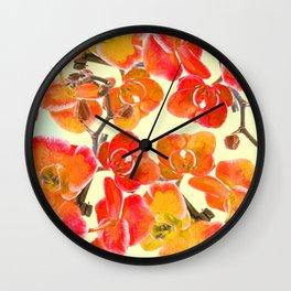 Orchid #society6 Wall Clock