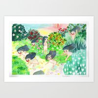 psychedelic Art Prints featuring Psychedelic by Risahhh