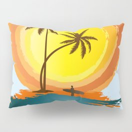 The best happy time is surfing Pillow Sham