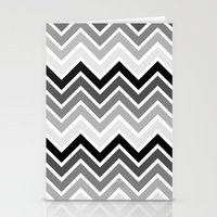plain Stationery Cards featuring ZigZag - Plain by Emelie Turander