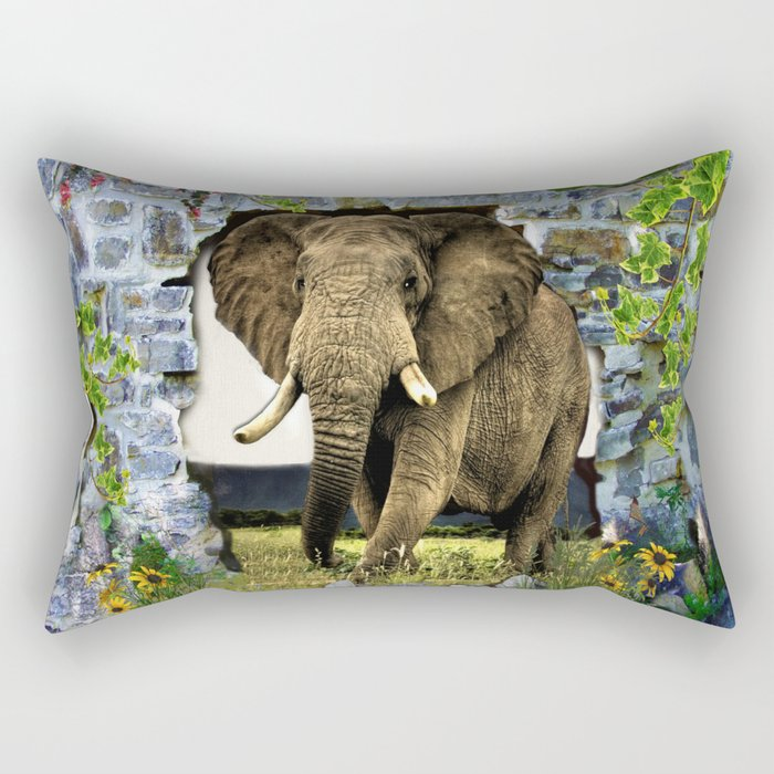 African Elephant Rectangular Pillow