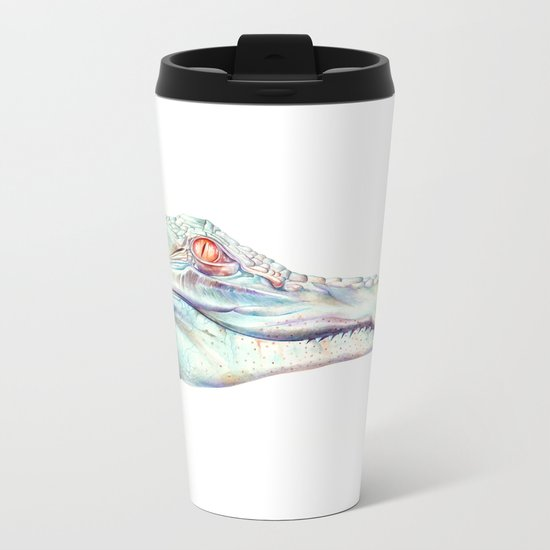 Albino Alligator Metal Travel Mug