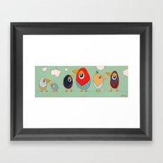 Tweet-tweets (long) Framed Art Print