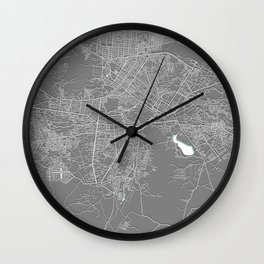 Kabul, Afghanistan, Grey, City, Map Wall Clock