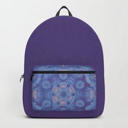 Ultra-violet kaleidoscope mandala with fractal texture Backpack