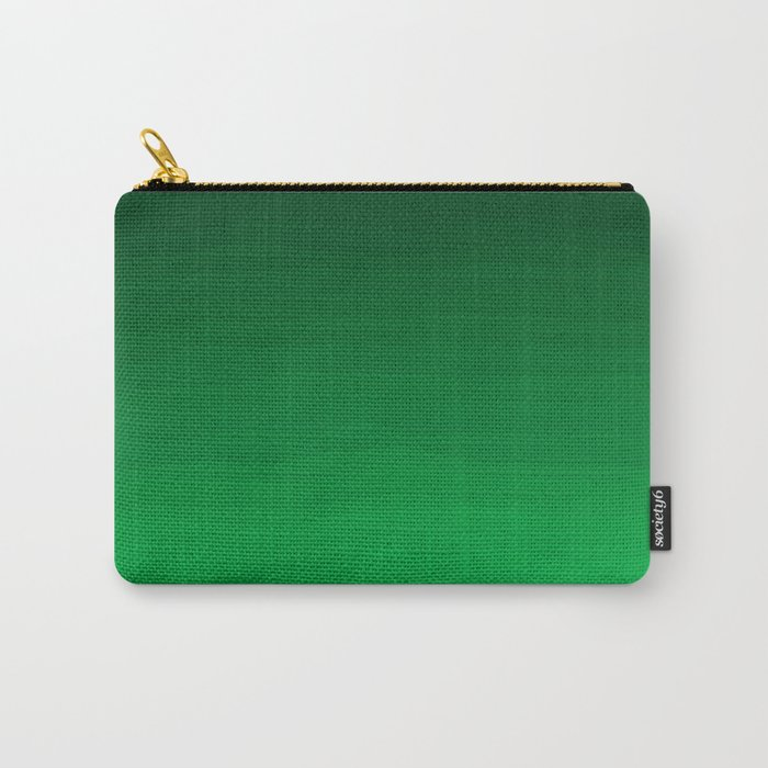 Happy Bright Apple Green Ombre Carry-All Pouch