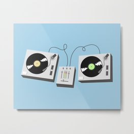 Turntables Metal Print