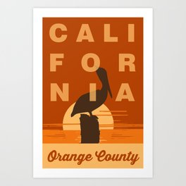 Orange County - California. Art Print
