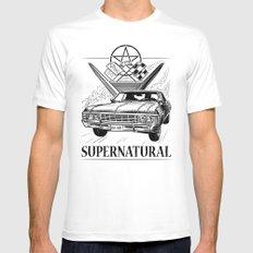 Supernatural Impala Black and White Mens Fitted Tee MEDIUM White