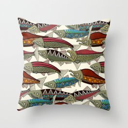 Alaskan salmon pearl Throw Pillow
