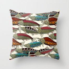 Alaskan salmon pearl Throw Pillow