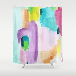 Abstract in Pastel Shower Curtain
