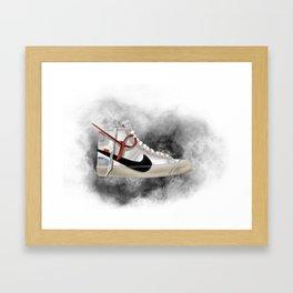 OFF WHITE BLAZER Framed Art Print