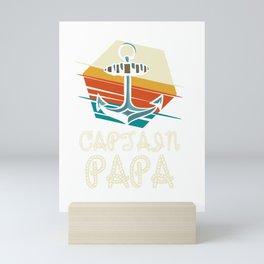 Captain Papa Sailing Father's Day Gift Mini Art Print