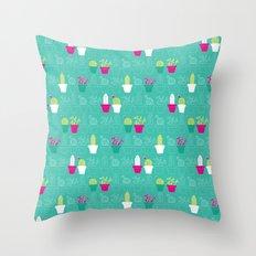 Mini Cactus Love Throw Pillow