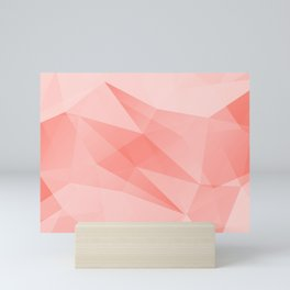 Pantone Living Coral Color of the Year 2019 on Abstract Geometric Shape Pattern Mini Art Print