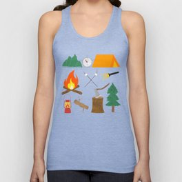 Let's Explore The Great Outdoors - Light Blue Unisex Tank Top