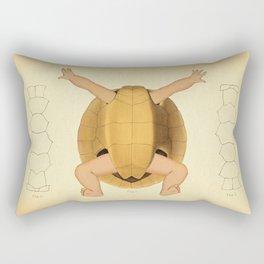 Anatomical Turtle Baby Rectangular Pillow