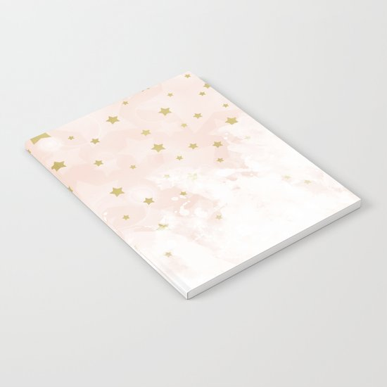 Gold stars on blush pink Notebook