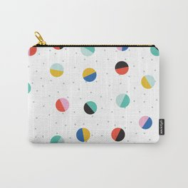 Color Block Dots Carry-All Pouch