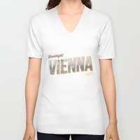 "vienna V-neck T-shirts featuring Vintage Print ""Goodnight Vienna."" by Lewys Williams"